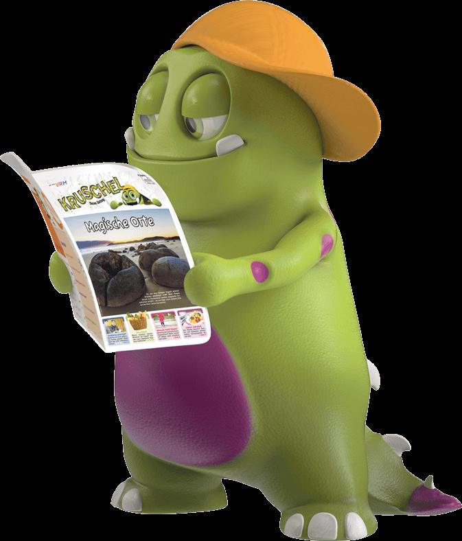 Kruschel liest die Zeitung