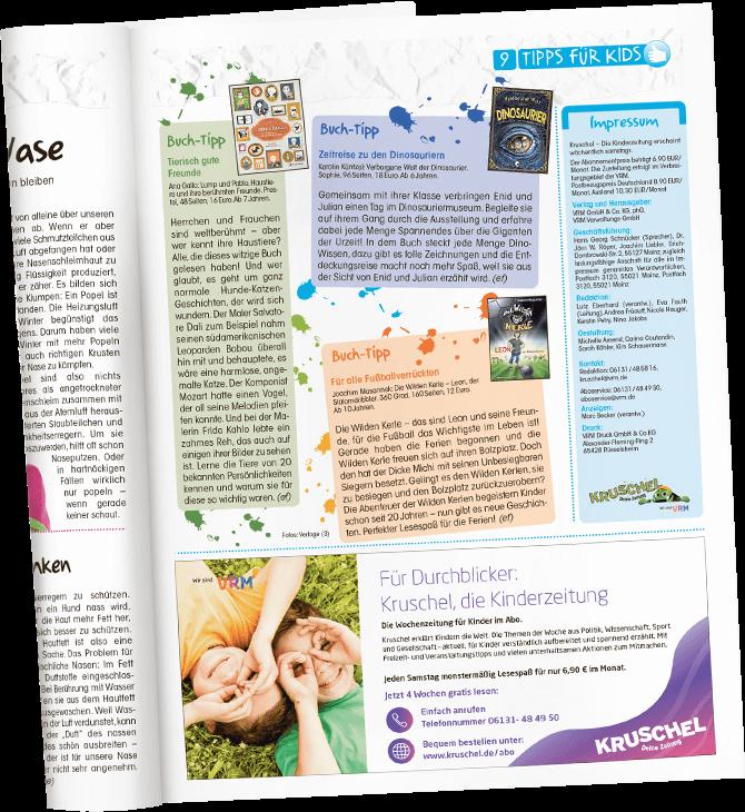 Blick in die Kinderzeitung - Tipps fuer Kids