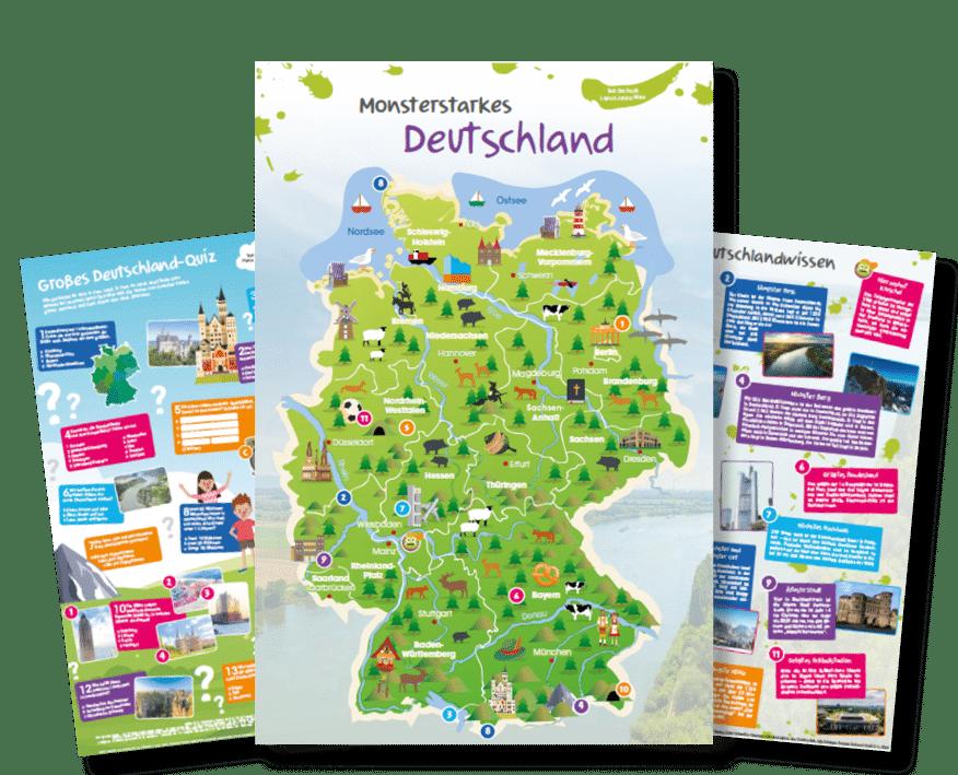 Kompaktes Deutschland-Wissen als Poster fürs Kinderzimmer